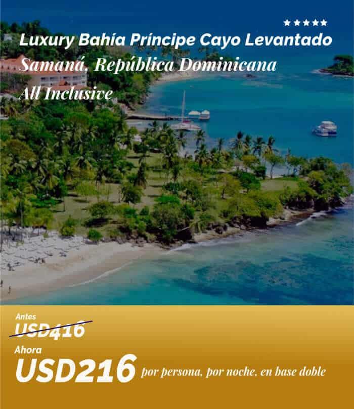 Oferta Luxury Bahia Principe Cayo Levantado Por Usd 216