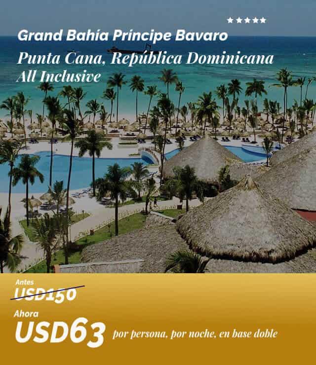 Oferta Grand Bahía Príncipe Bavaro Usd63