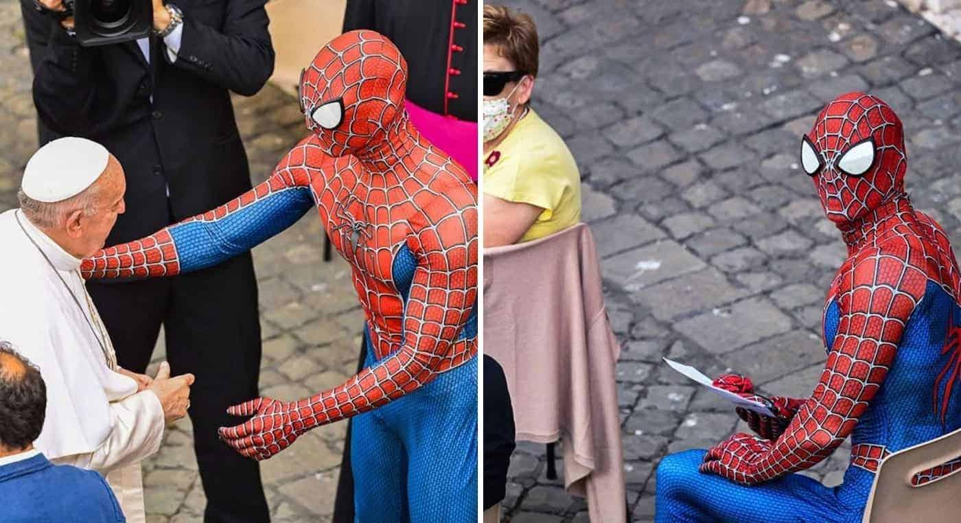 El papa Francisco y Spider-Man se encontraron en el Vaticano