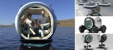 Stratosfera: la cápsula eléctrica que permite viajar por tanto por tierra como por aire y mar