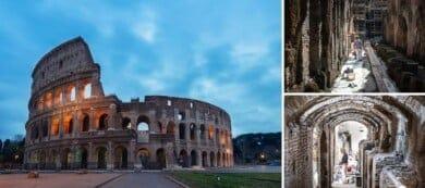 El Coliseo Romano abre por primera vez sus subterráneos al público