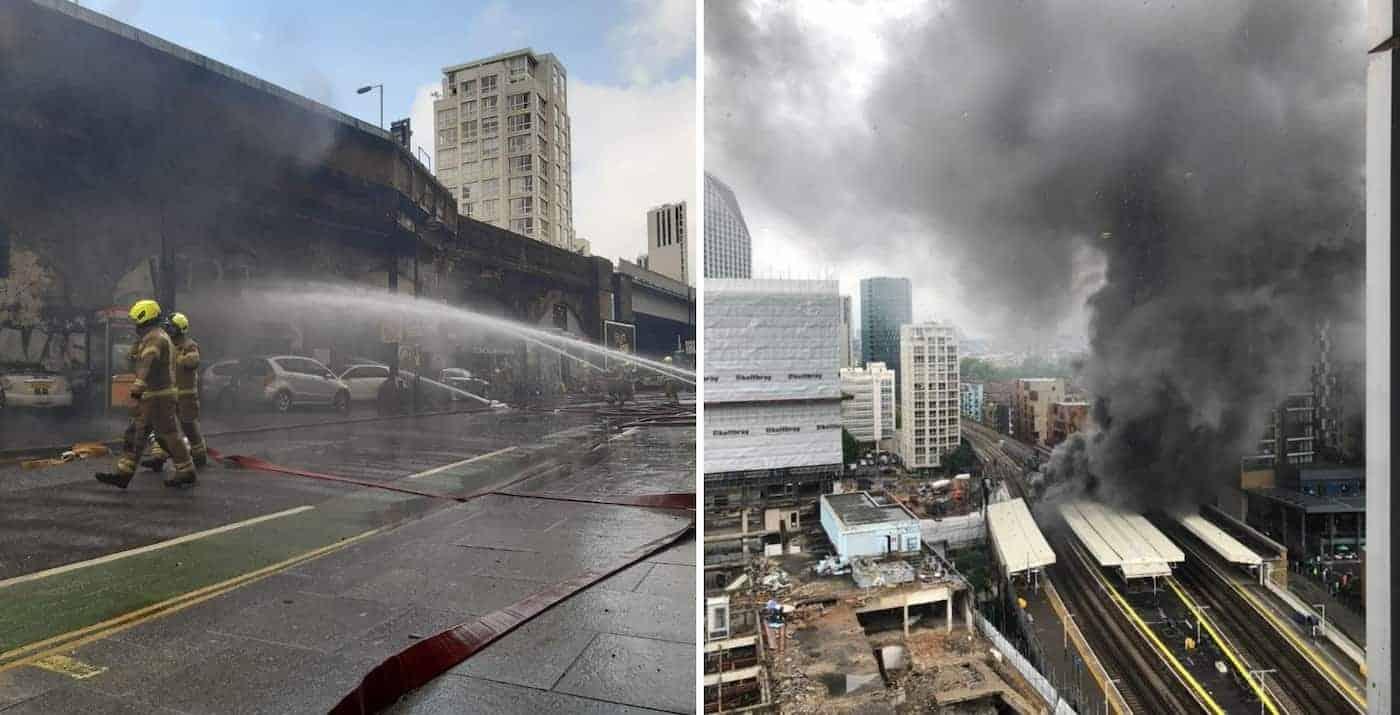 Inglaterra: una explosión seguida de un incendio tuvo lugar en una estación del metro de Londres