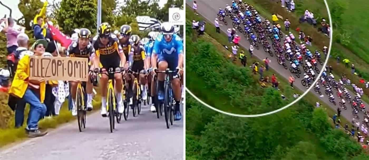 Fue detenida la persona responsable del accidente múltiple en el Tour de Francia