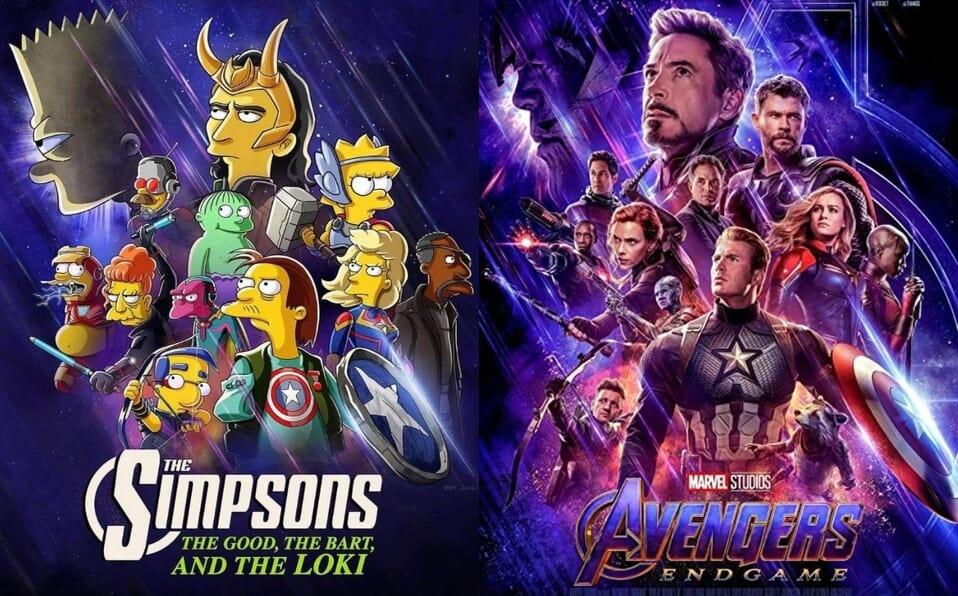 crossover de Simpsons y Marvel