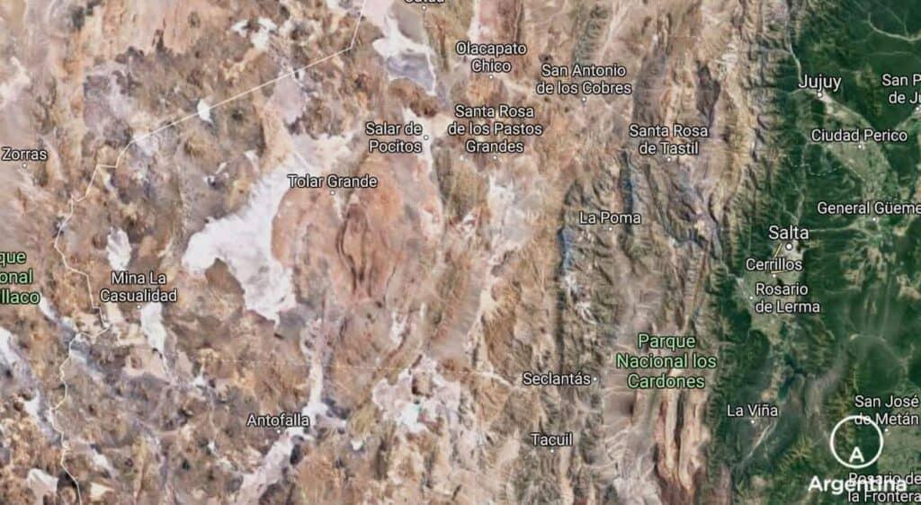 Mapa De La Puna