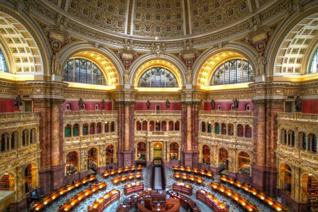 10 Lugares Que Visitar En Washington: La Biblioteca Del Congreso