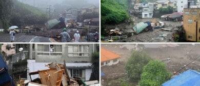 Al menos 20 personas están desaparecidas en Japón por un deslizamiento de tierra