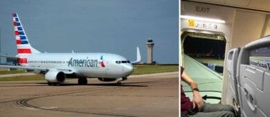 Un pasajero fue arrestado luego de salir por la puerta de emergencia del avión porque su vuelo había sido cancelado
