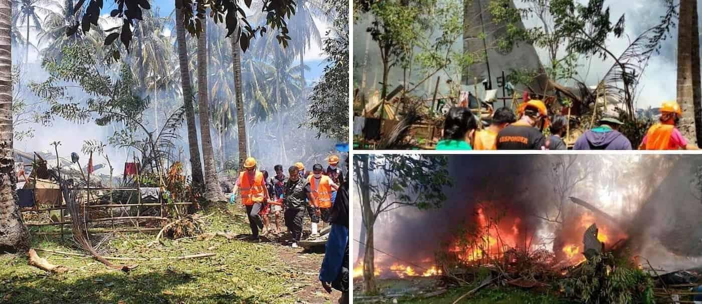 Un avión militar se estrelló en Filipinas, más de 50 personas resultaron heridas pero lograron sobrevivir