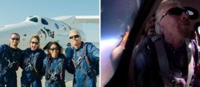 Richard Branson se convirtió en el primer multimillonario en viajar al espacio y lo hizo en un vuelo de Virgin Galactic