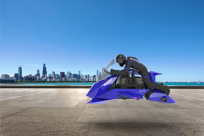Render De La Primera Motocicleta Voladora