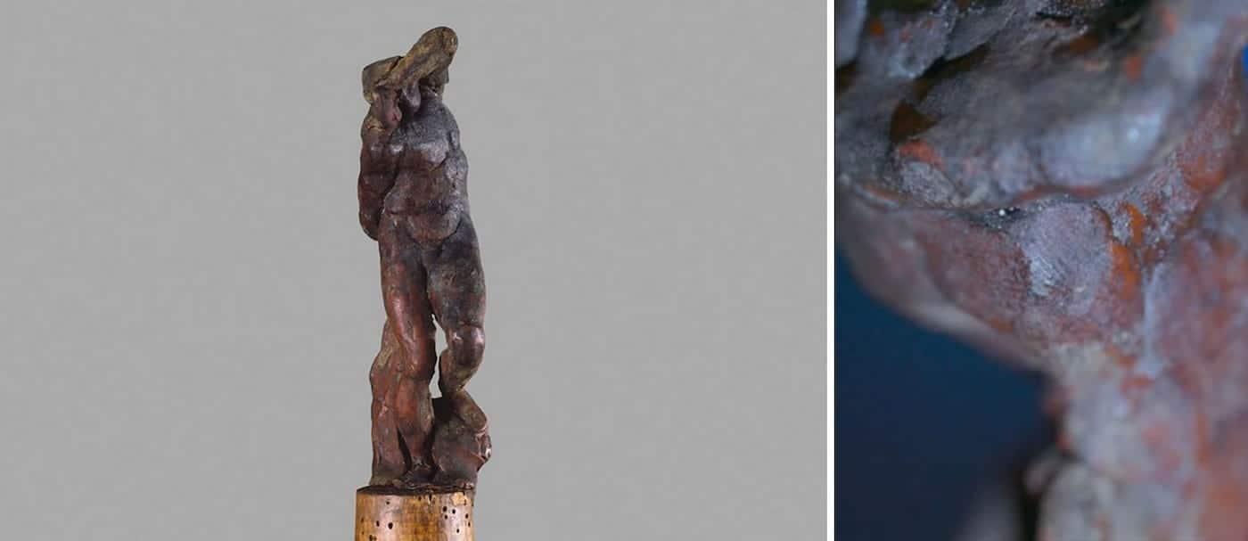 Un grupo de especialistas cree haber descubierto una huella dactilar del artista Miguel Ángel