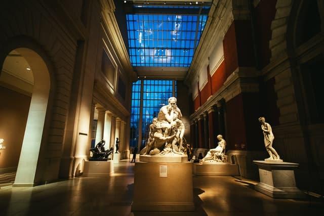 Interior Del Museo Metropolitano De Arte De Nueva York