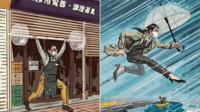 Este ilustrador se inspiró en los JJOO de Tokio para reflejar el espíritu olímpico en la rutina de la mayoría de las personas