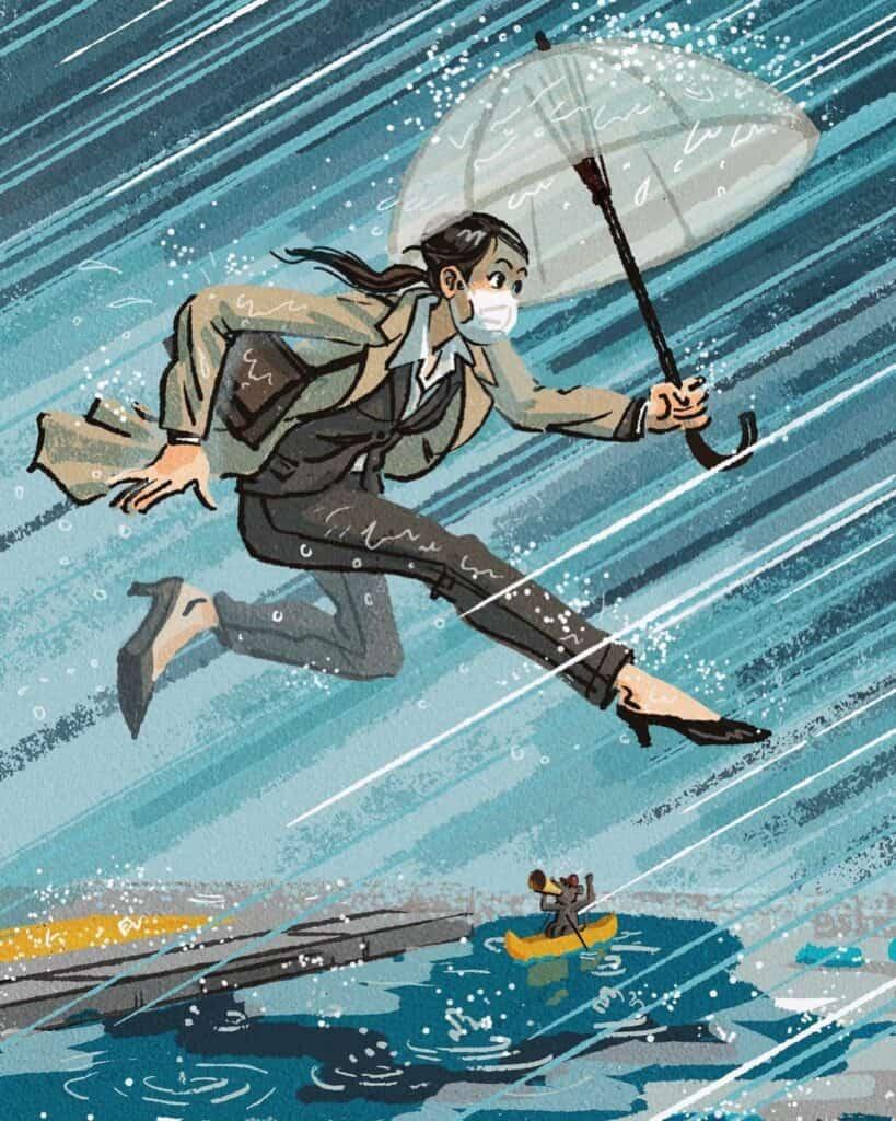 Este Ilustrador Se Inspiró En Los Jjoo De Tokio Para Reflejar El &Quot;Espíritu Olímpico&Quot; En La Rutina De La Mayoría De Las Personas