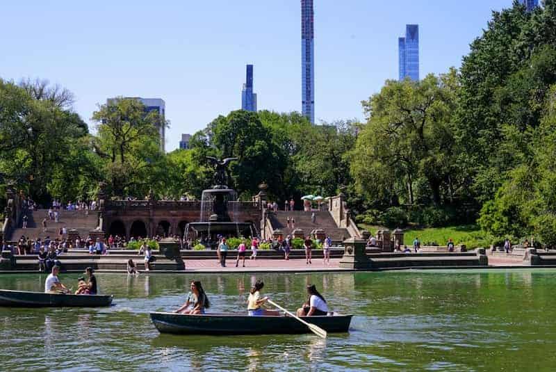 Personas En Central Park, Nueva York