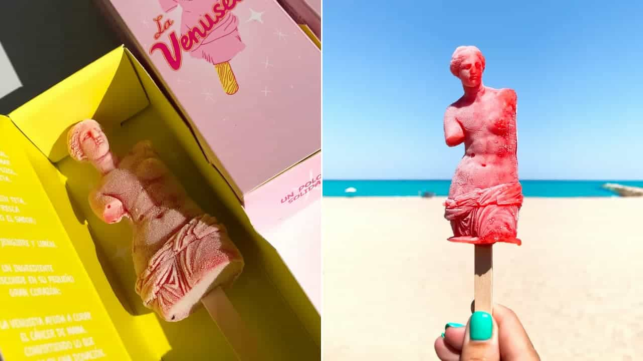 La-Venuseta-helado-Venus-de-Milo-lucha-contra-cáncer-de-mama
