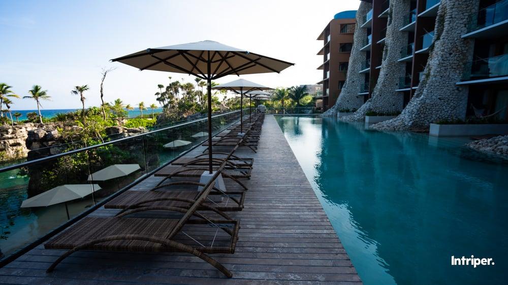 Hotel Xcaret Arte: Las Habitaciones Con Vista Al Mar.