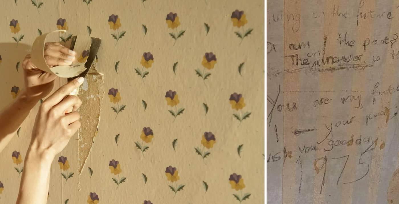 Una familia encontró un poema de hace más de 45 años en una de las paredes de su casa