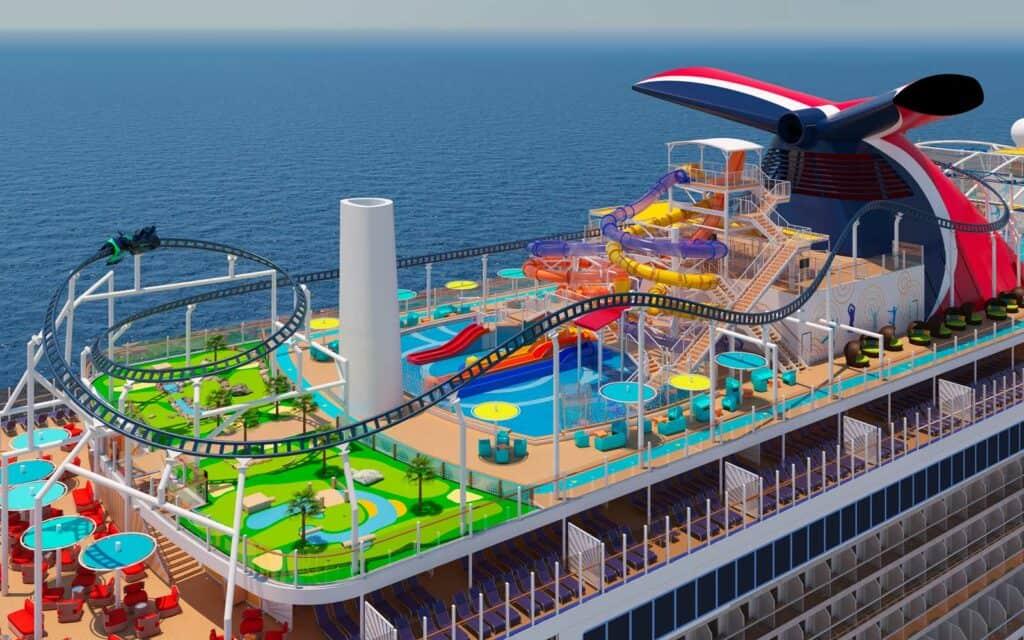 Estrenarán La Primera Montaña Rusa A Bordo Del Mundo En El Barco Más Grande De Carnival Cruises