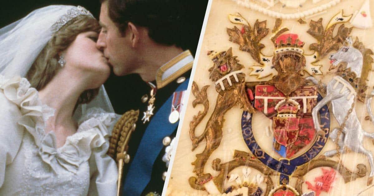 subastan un pedazo de pastel de la boda de la princesa Diana