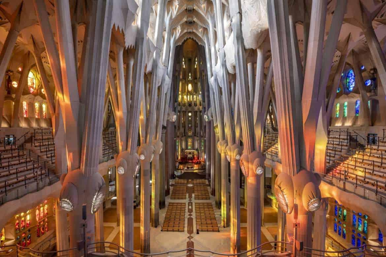 Detall de la nau central des de la Cantoria de la Glòria