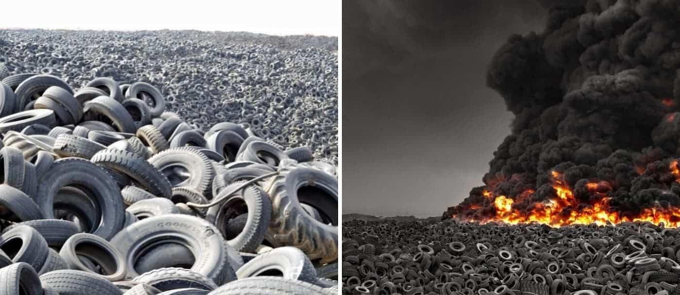 Este es el cementerio de neumáticos más grande del mundo