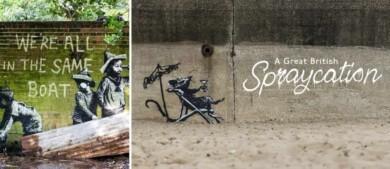 Banksy lanzó un video en el que se lo ve haciendo algunos de sus icónicos trabajos