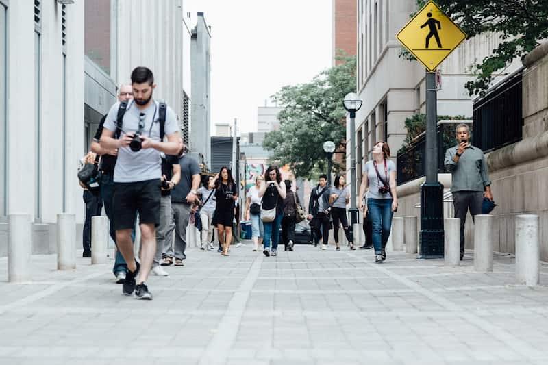 Peatones Por Toronto, Canadá