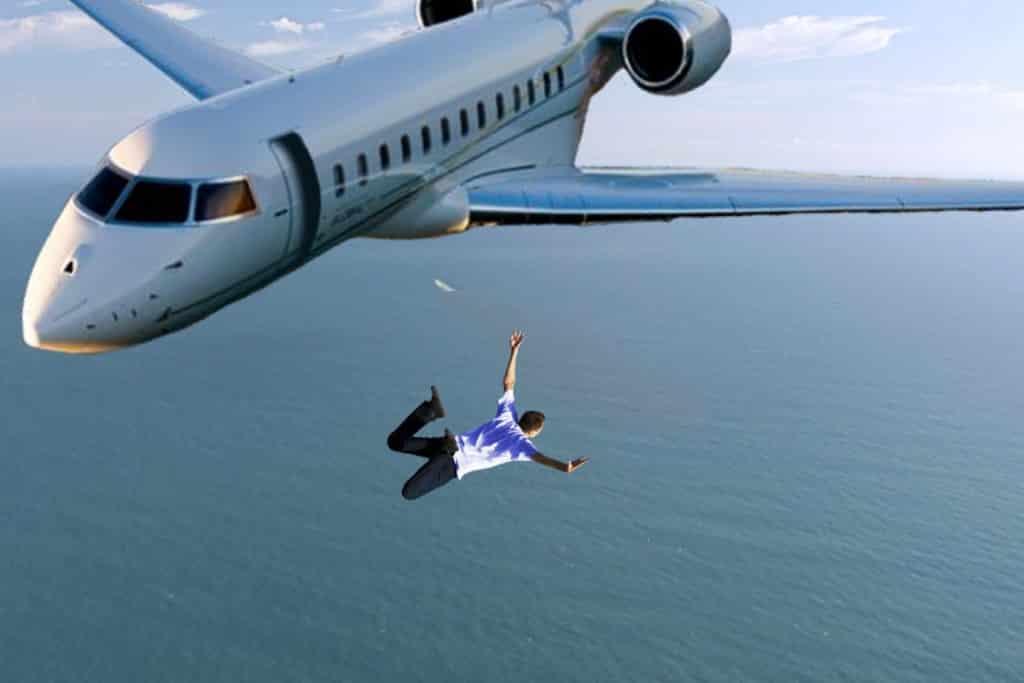 aviones comerciales paracaídas