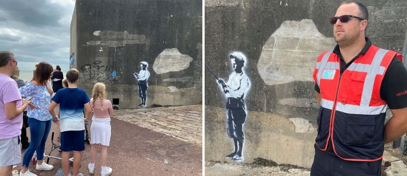 Contratan a un guardia para que cuide un mural que podría ser de Banksy