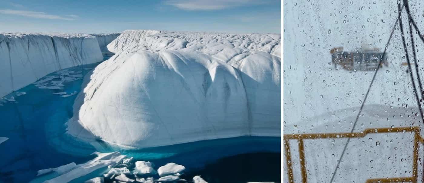 Por primera vez se registró lluvia en vez de nieve en la Cumbre de Groenlandia
