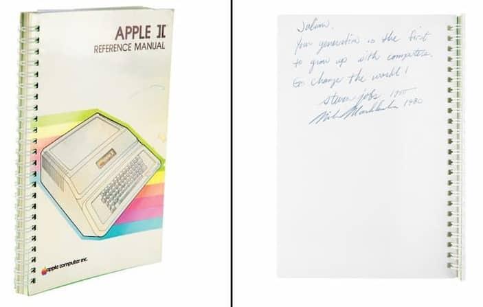 Manual De Apple Ii Con Dedicatoria Y Firma De Steve Jobs
