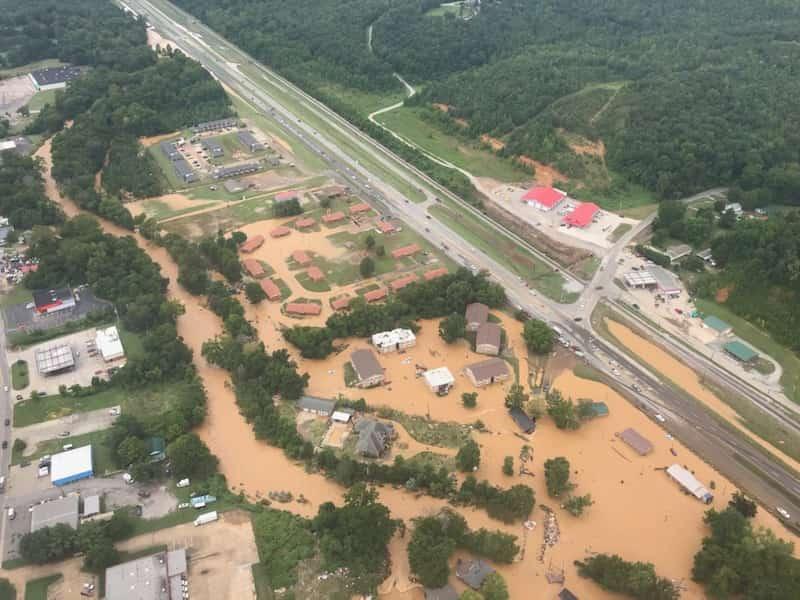 Imagen Aérea De La Región Más Afectada Por La Mayor Lluvia De Los Últimos 40 Años En Tennessee
