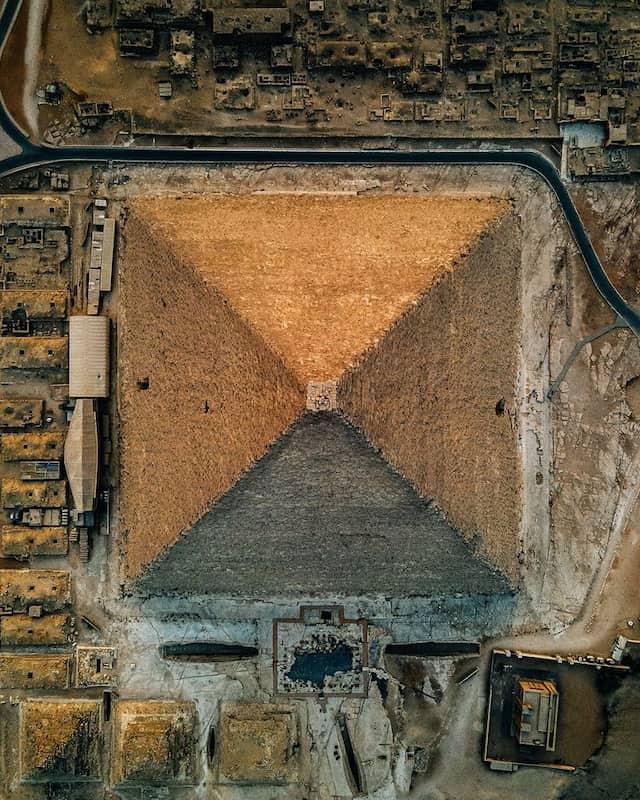 Pirámides De Egipto Desde Arriba