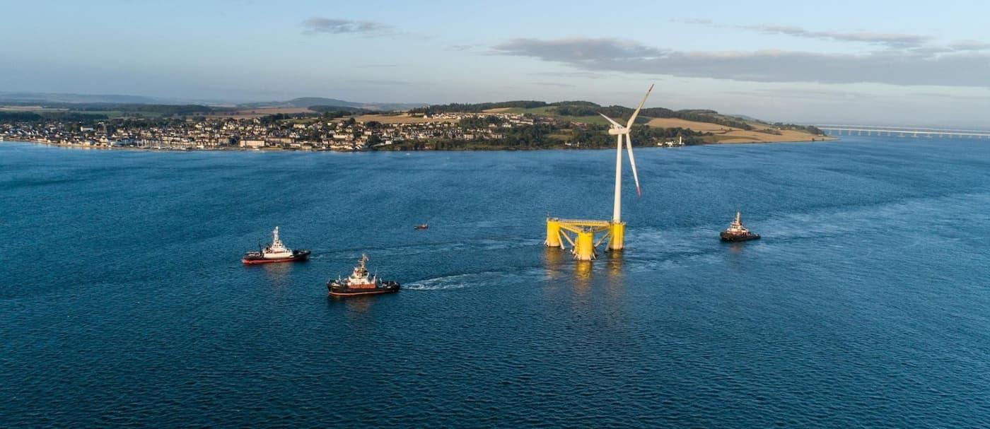 Finalizó la instalación del parque eólico marino flotante más grande del mundo