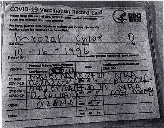 Certificado De Vacunación Falso