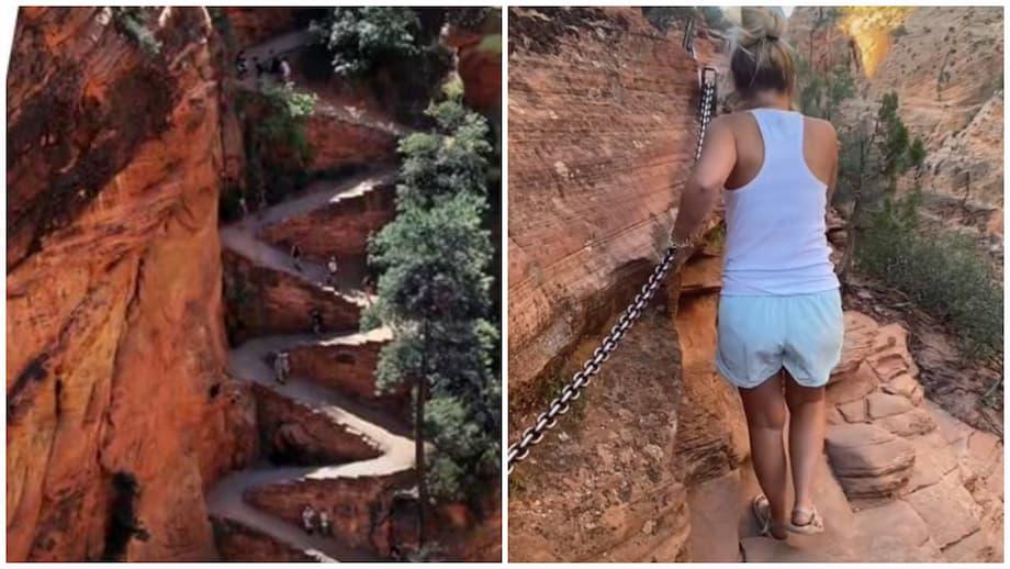 Esta mujer completó uno de los senderos más peligrosas de Estados Unidos en sandalias