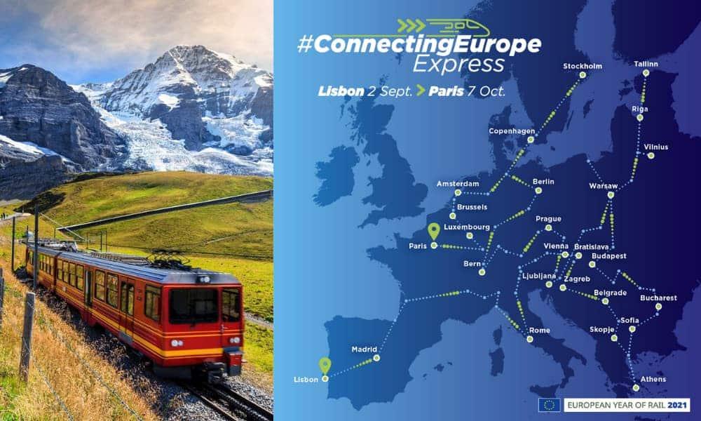 Recorrer todo Europa en tren es posible Connecting Europe Express partió hoy de Lisboa y terminará el 7 de octubre en París