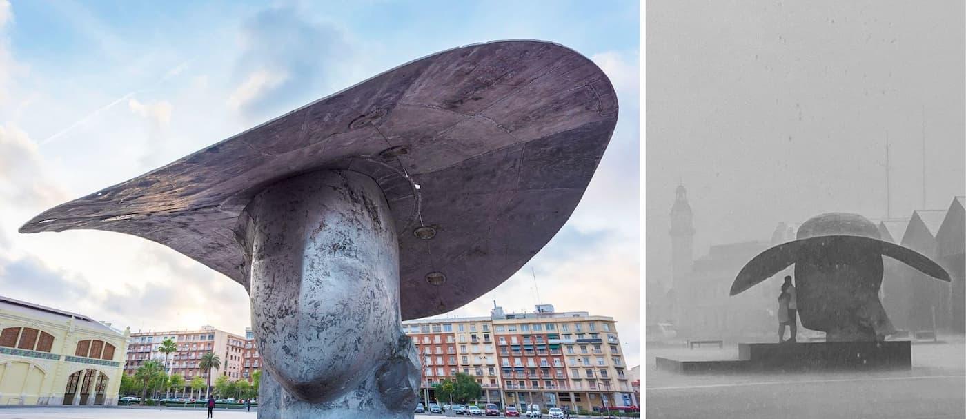 Buscan a una pareja de Valencia para regalarle su foto bajo una escultura de la ciudad