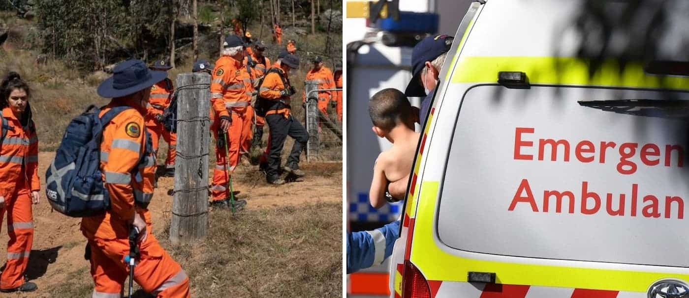 Lograron rescatar a un niño que estuvo perdido en el bosque de Australia por 3 días