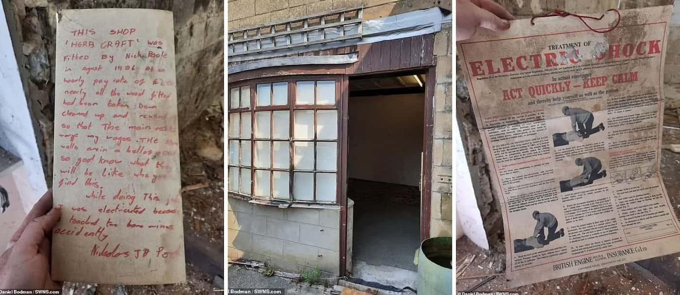 Un hombre encontró un mensaje de hace 35 años oculto en las paredes de una tienda