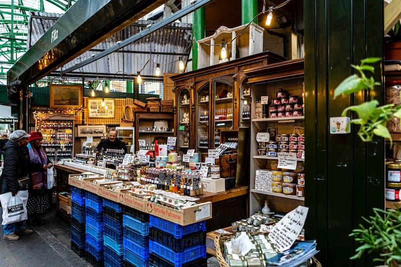 Puesto Del Borough Market, Londres, Inglaterra
