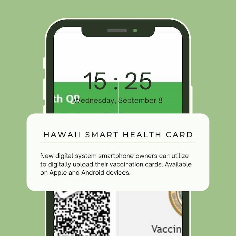 Pasaporte Digital De Salud, Hawái