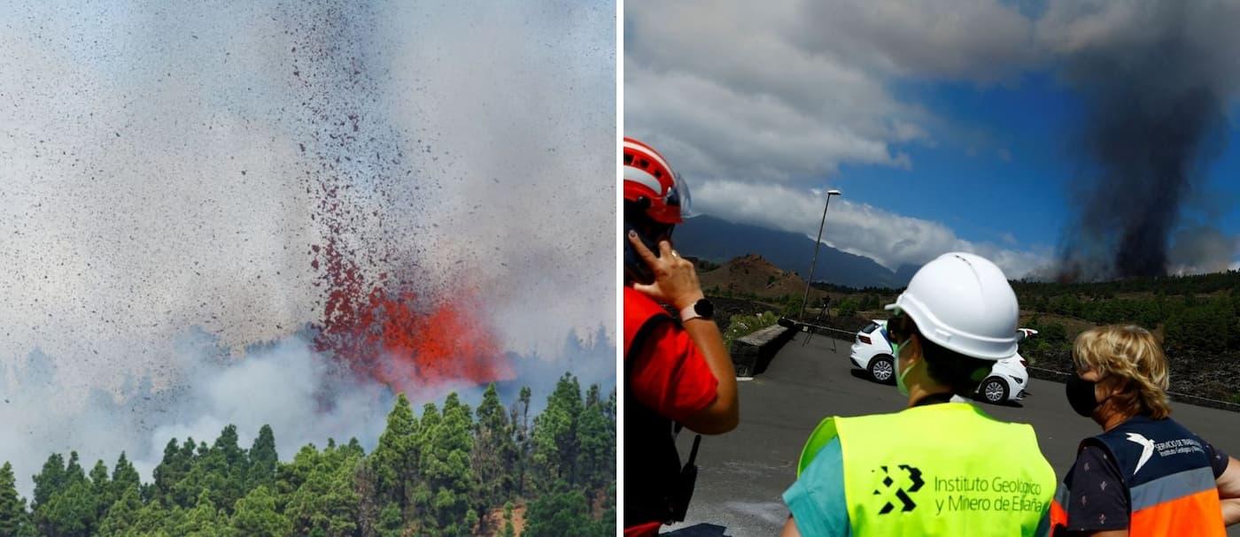 Entró en erupción el volcán de La Palma, en Islas Canarias y comenzó el proceso de evacuación