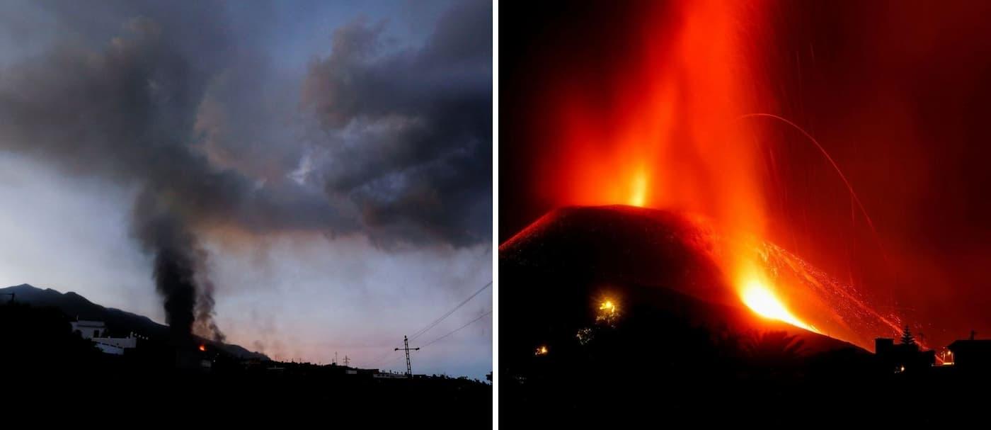 Se intensificó la erupción volcánica de La Palma y cierran el aeropuerto