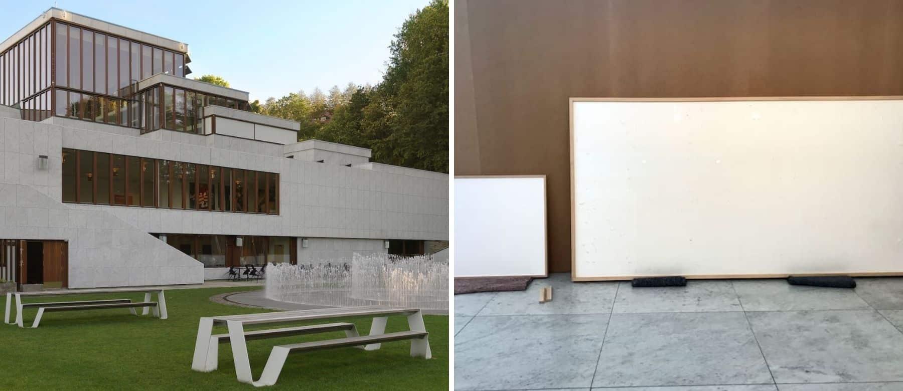Un museo de Dinamarca entregó 84.000 dólares a un artista para que los incluyera en su obra pero recibió dos lienzos en blanco