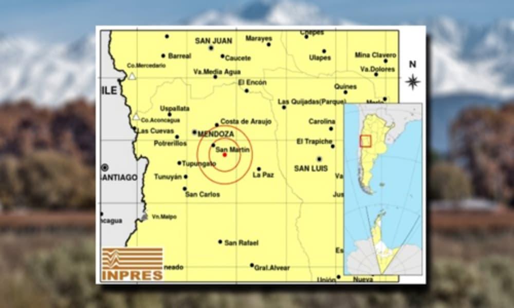 Mendoza registró terremoto de 5,2 grados en la escala Richter no se registraron heridos ni daños materiales