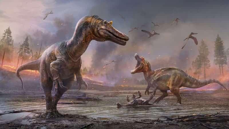 Recreación De Las Nuevas Especies De Dinosaurios Encontrados