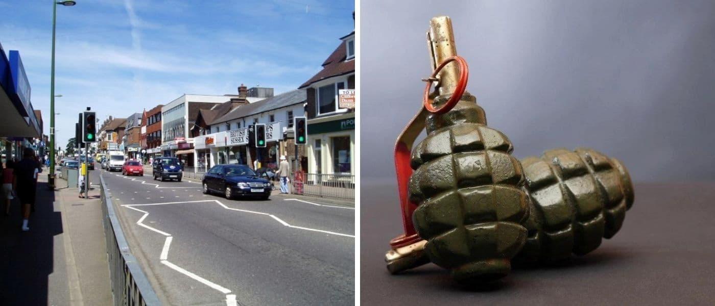 Un hombre se preparaba para un posible apocalipsis haciendo sus propias granadas